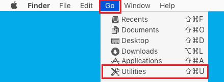 Open Utilities Option On Mac