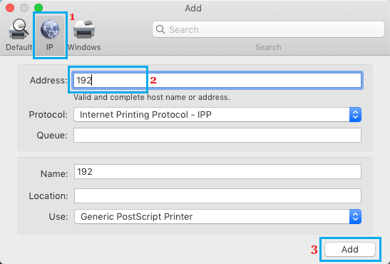 Add Wireless Printer to Mac Using IP Address
