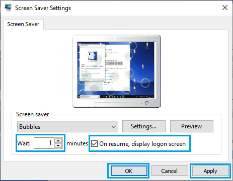 Automatically Start Screen Saver on Windows PC