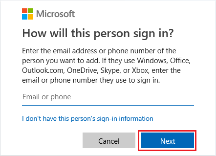 Add Email Address to Windows User Account