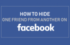 Hide One Friend From Another on Facebook