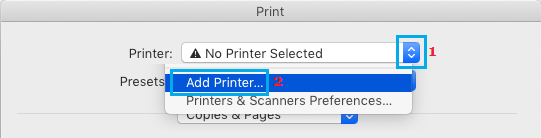 Add Printer to Mac Using Print Command