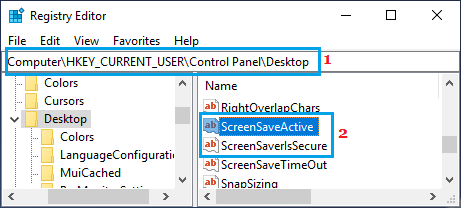 ScreenSaveActive Key in Windows Registry