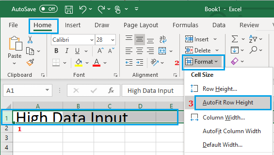 AutoFit Row Height in Excel