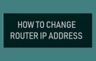 Change Router IP Address