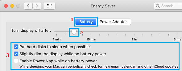Energy Saver Settings on Mac