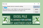 Excel File is Locked For Editing By Another User
