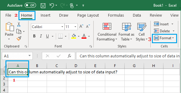 Format Cells Option in Excel
