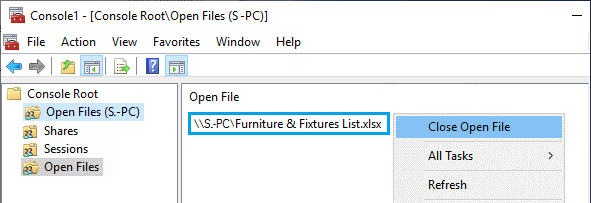 Remotely Close Open Excel File on Another Computer