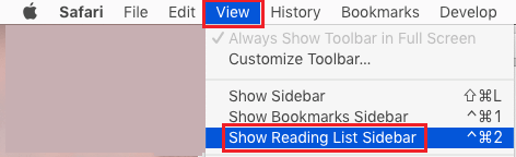 Show Reading List Sidebar in Safari Browser on Mac