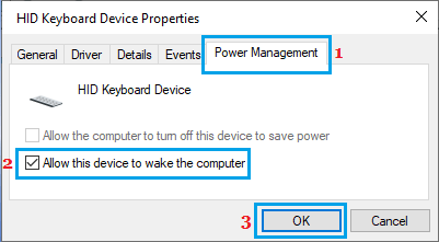 Allow Keyboard to Wake up Computer