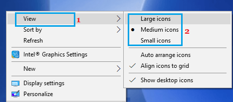 Change Desktop Icon Size on Windows PC