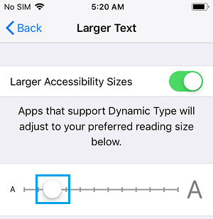 Change Font Size On iPhone Using Accessibility Settings