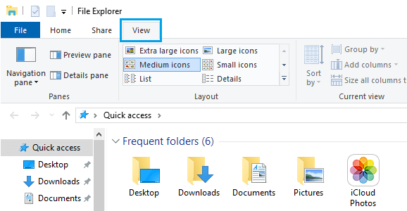 Change File Explorer Folder Icon Size