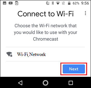 Choose Chromecast WiFi Network