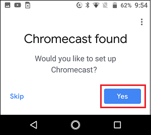 Chromecast Located in Google Home App