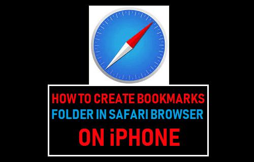 Create Bookmarks Folder In Safari Browser on iPhone
