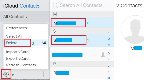 Delete Multiple iPhone Contacts Using iCloud
