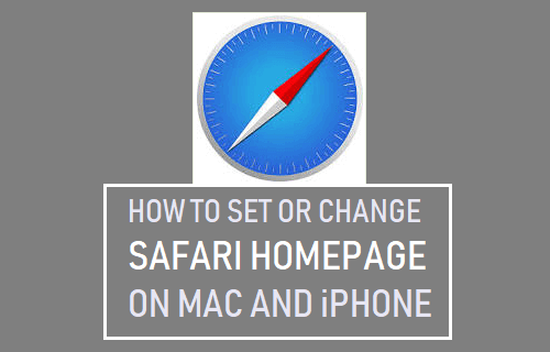 Set or Change Safari Homepage on Mac and iPhone