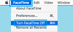 Turn OFF FaceTime on Mac