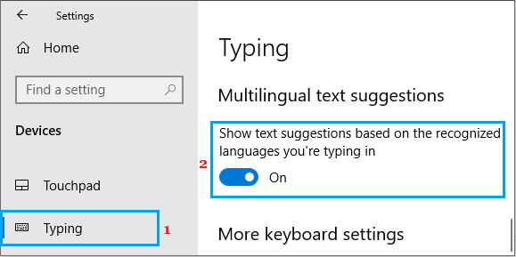Enable Multilingual Text Suggestions in Windows