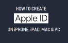 Create Apple ID on iPhone, iPad, Mac and PC