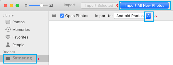 Import All Photos From Android Phone to Mac