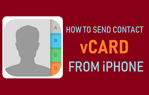 Send Contact vCard From iPhone