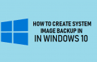 Create System Image Backup in Windows 10