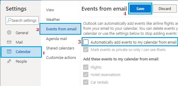 Prevent Outlook From Adding Calendar Events