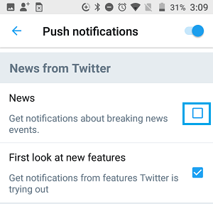Disable Twitter News Notifications