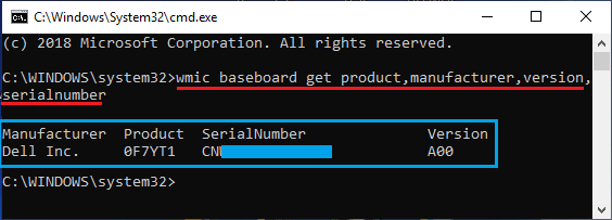 Get Windows PC Motherboard Details Using Command Prompt