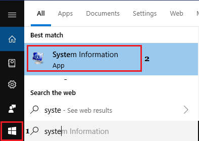 Open Windows System Information App