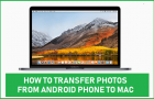 Transfer Photos From Android Phone to Mac