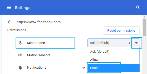 Block Microphone Access in Chrome