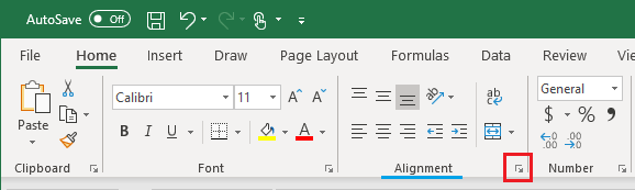 Launch Dialog Box in Excel