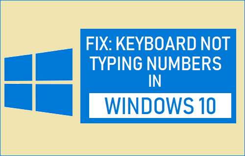 Fix: Keyboard Not Typing Numbers in Windows 10