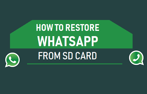 Restore WhatsApp From SD Card