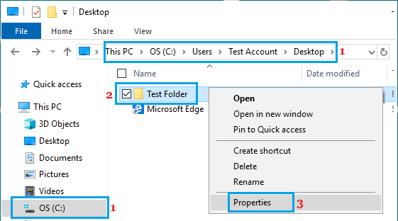 Open Folder Properties on Windows PC