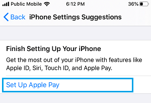 Set Up Apple Pay Option on iPhone