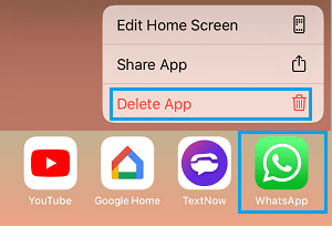 Delete App on iPhone