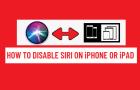Disable Siri on iPhone or iPad