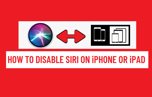 Disable Siri on iPhone or iPad