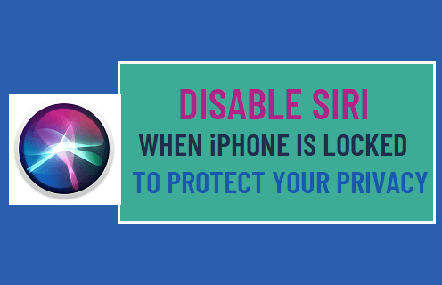 Disable Siri When iPhone is Locked