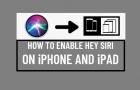 Enable Hey Siri on iPhone and iPad