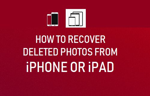 Recover Deleted Photos From iPhone or iPad