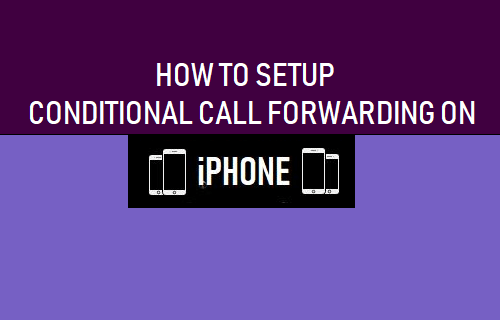Setup Conditional Call Forwarding on iPhone