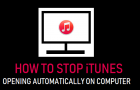 Stop iTunes Opening Automatically On Computer