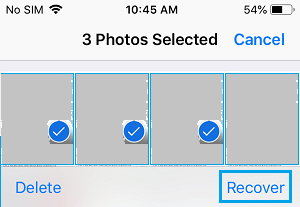 Recover Multiple Photos on iPhone