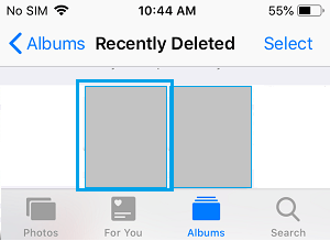 Select Deleted Photo to Recover on iPhone